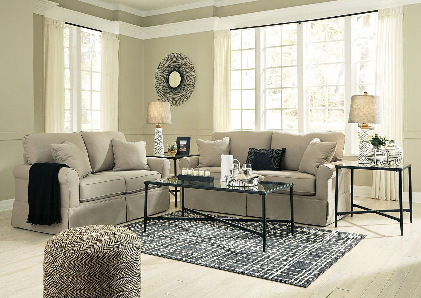 Senchal Stone Sofa & Loveseat,Signature Design By Ashley