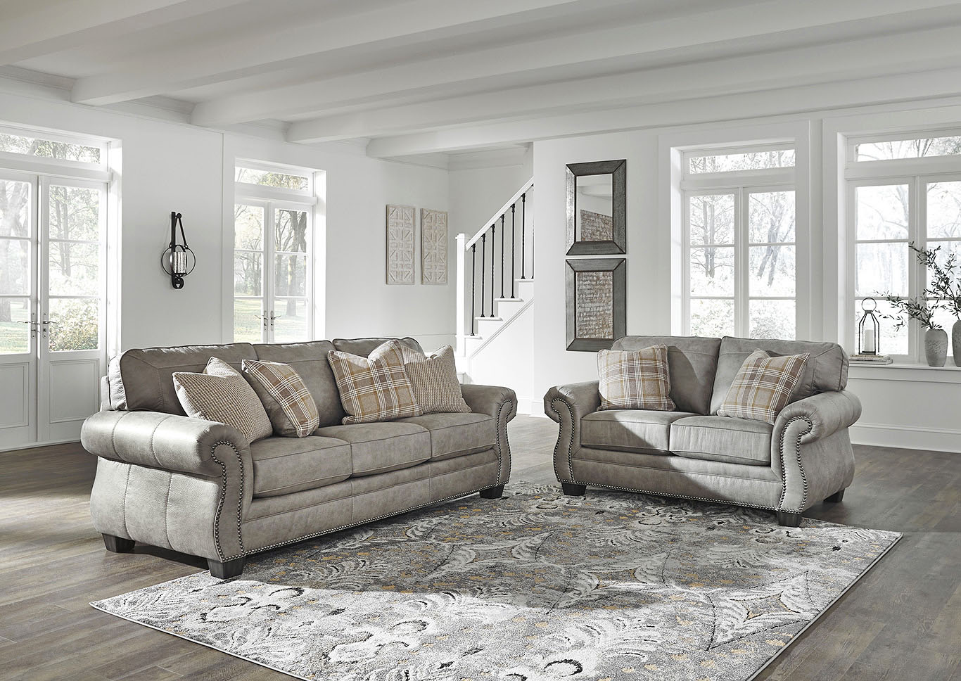 Olsberg Steel Sofa & Loveseat,Signature Design By Ashley