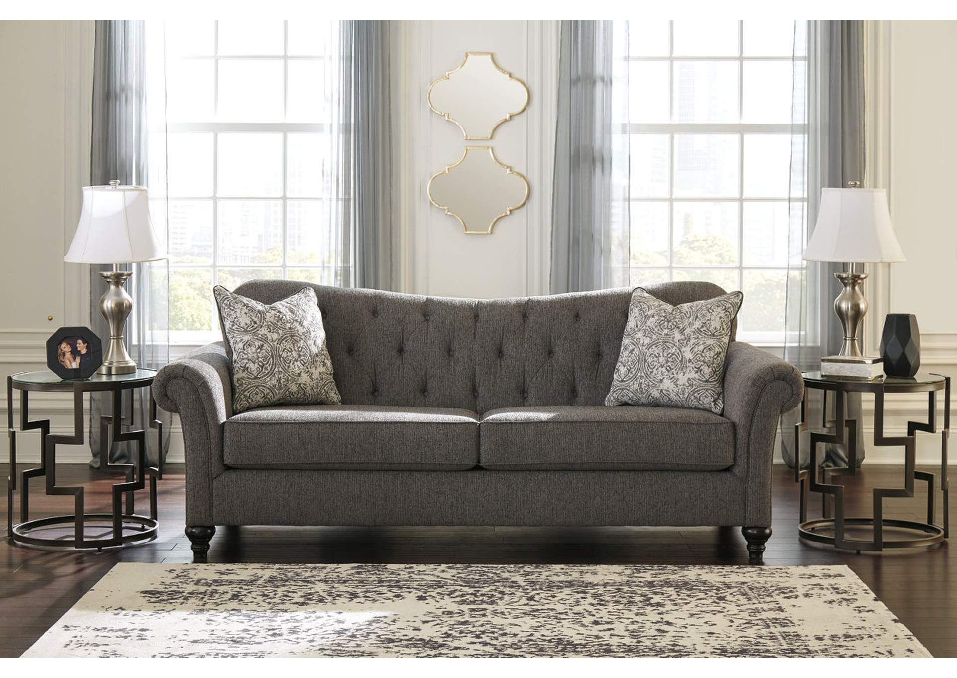 Praylor Slate Fabric Sofa,Signature Design By Ashley
