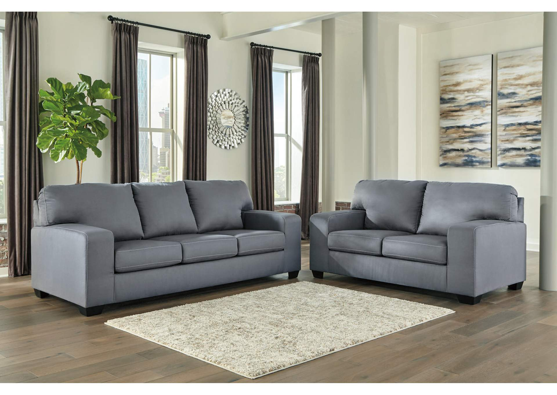 Kanosh Steel Sofa and Loveseat,Ashley