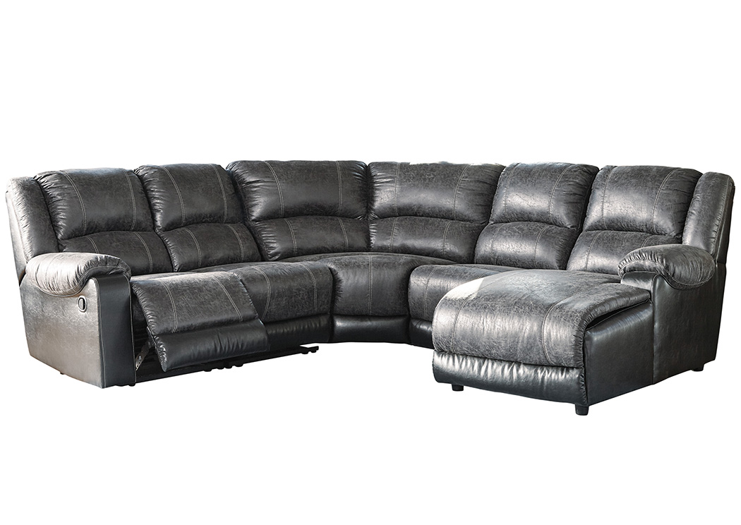 Nantahala Slate Right Facing Corner Chaise Sectional,Signature Design By  Ashley