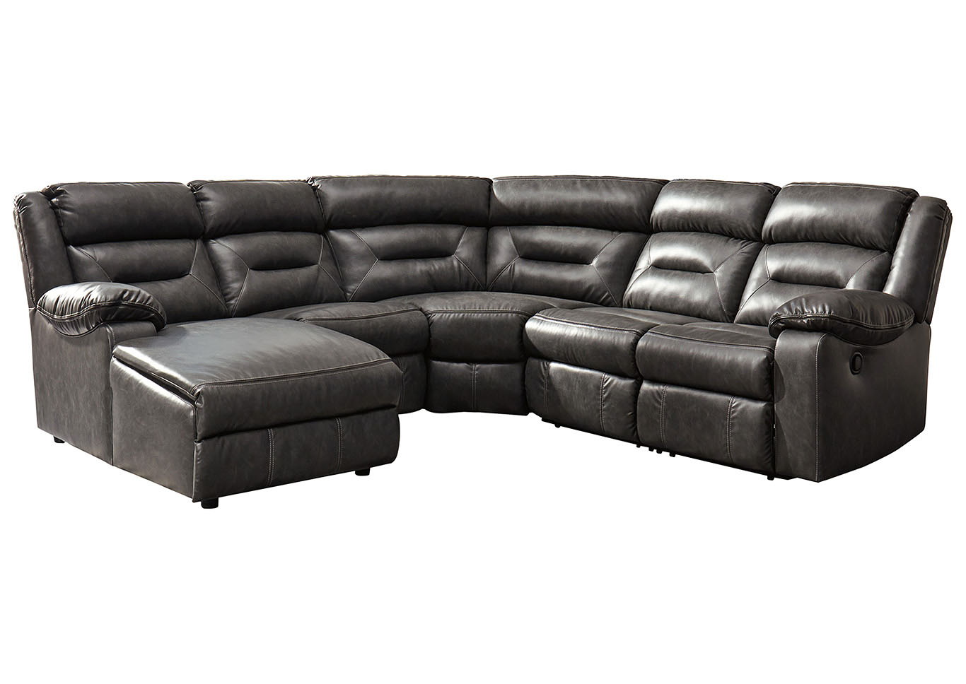 Coahoma Dark Gray LAF Chaise Sectional w/Power Recliner,Signature Design By Ashley
