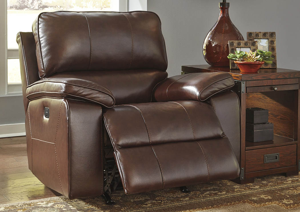 Transister Coffee Power Reclining Rocker Recliner w/Adjusting Headrest,Signature Design By Ashley