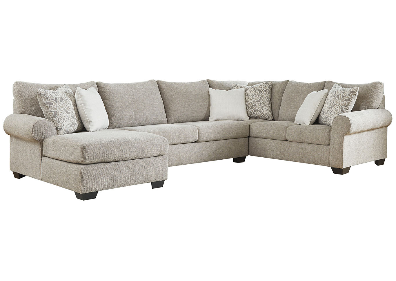 Jarons Baranello Stone LAF Chaise End Sectional
