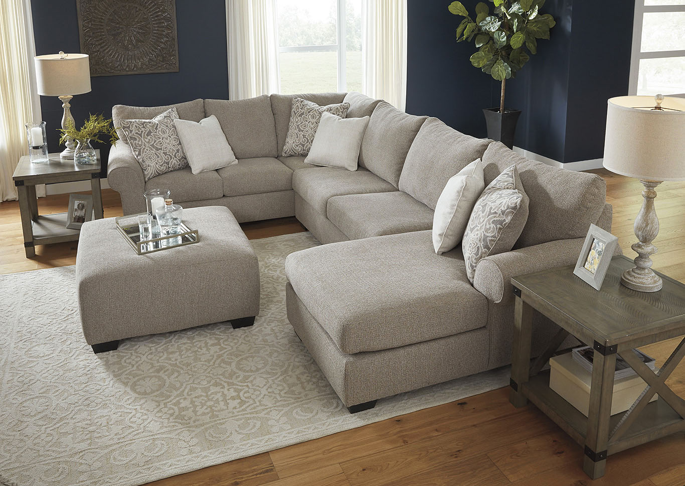 Baranello Stone RAF Chaise End Sectional,Benchcraft