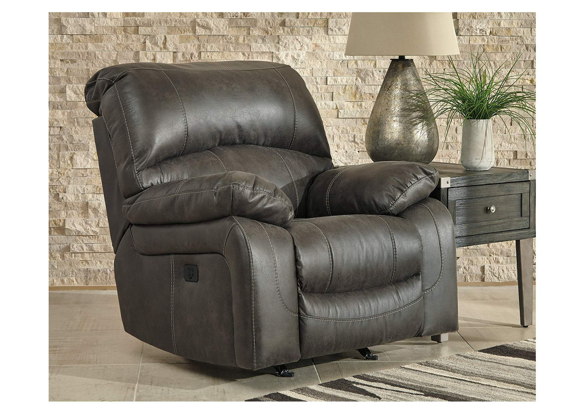 Dunwell Steel Power Rocker Recliner w/Adjustable Headrest,Signature Design By Ashley