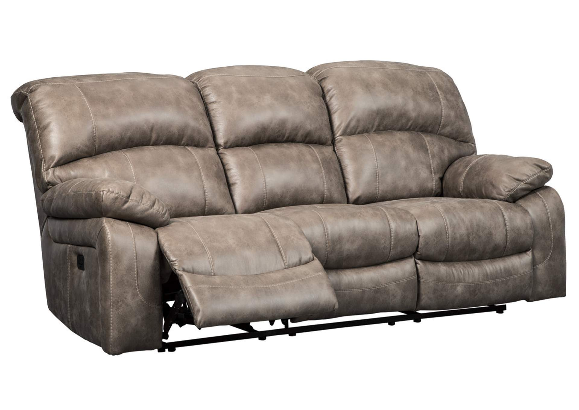 Dunwell Driftwood Power Recliner Sofa w/Adjustable Headrest,Signature Design By Ashley