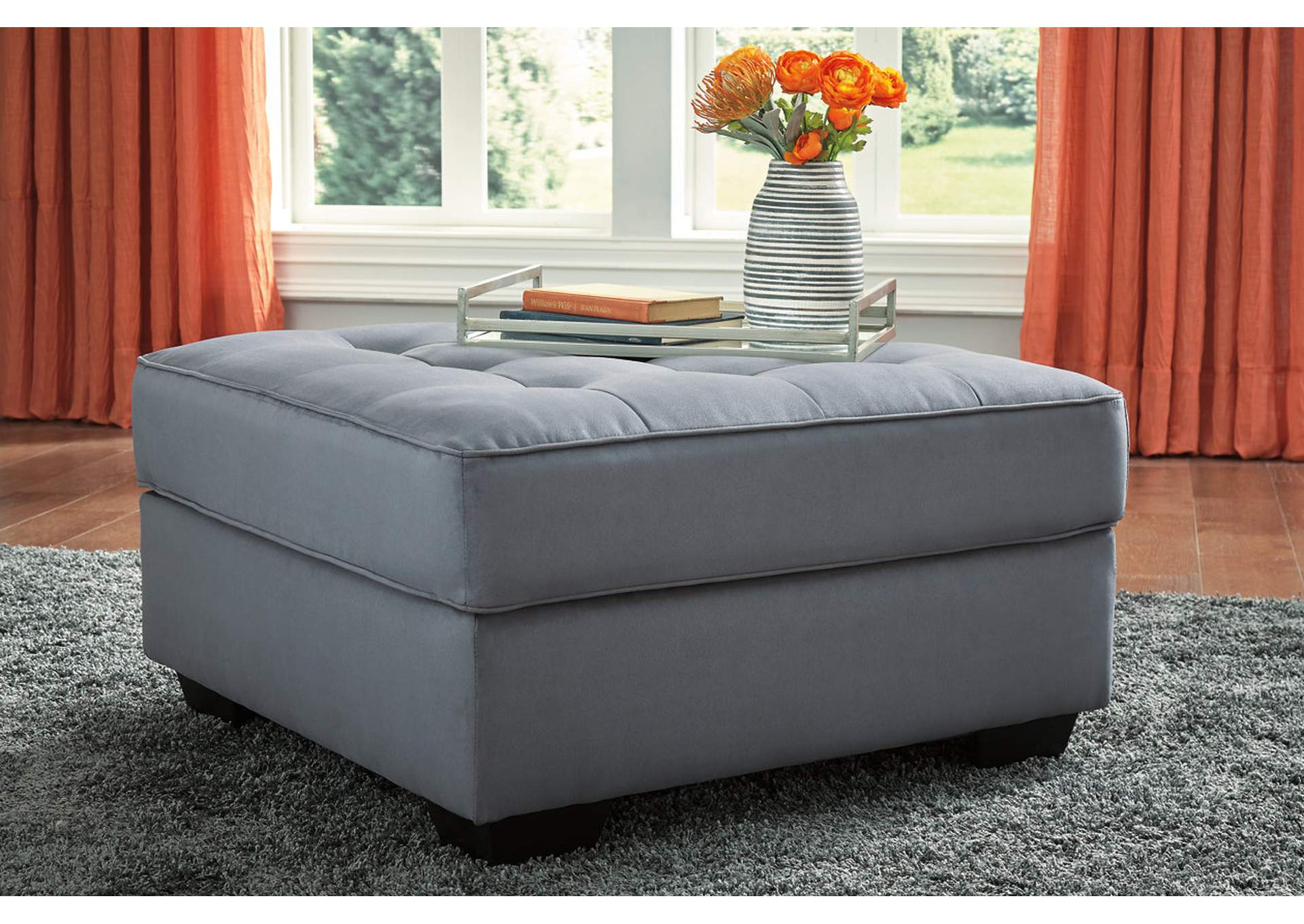 Filone Steel Oversized Accent Ottoman,Signature Design By Ashley