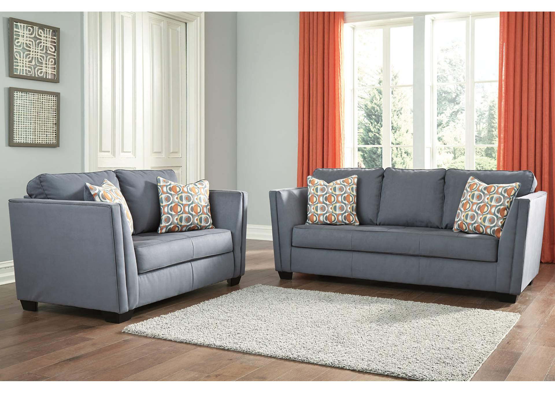 Filone Steel Sofa & Loveseat,Signature Design By Ashley