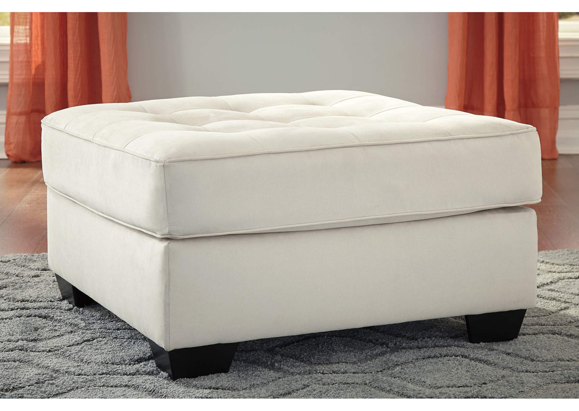 Filone Ivory Oversized Accent Ottoman,Signature Design By Ashley