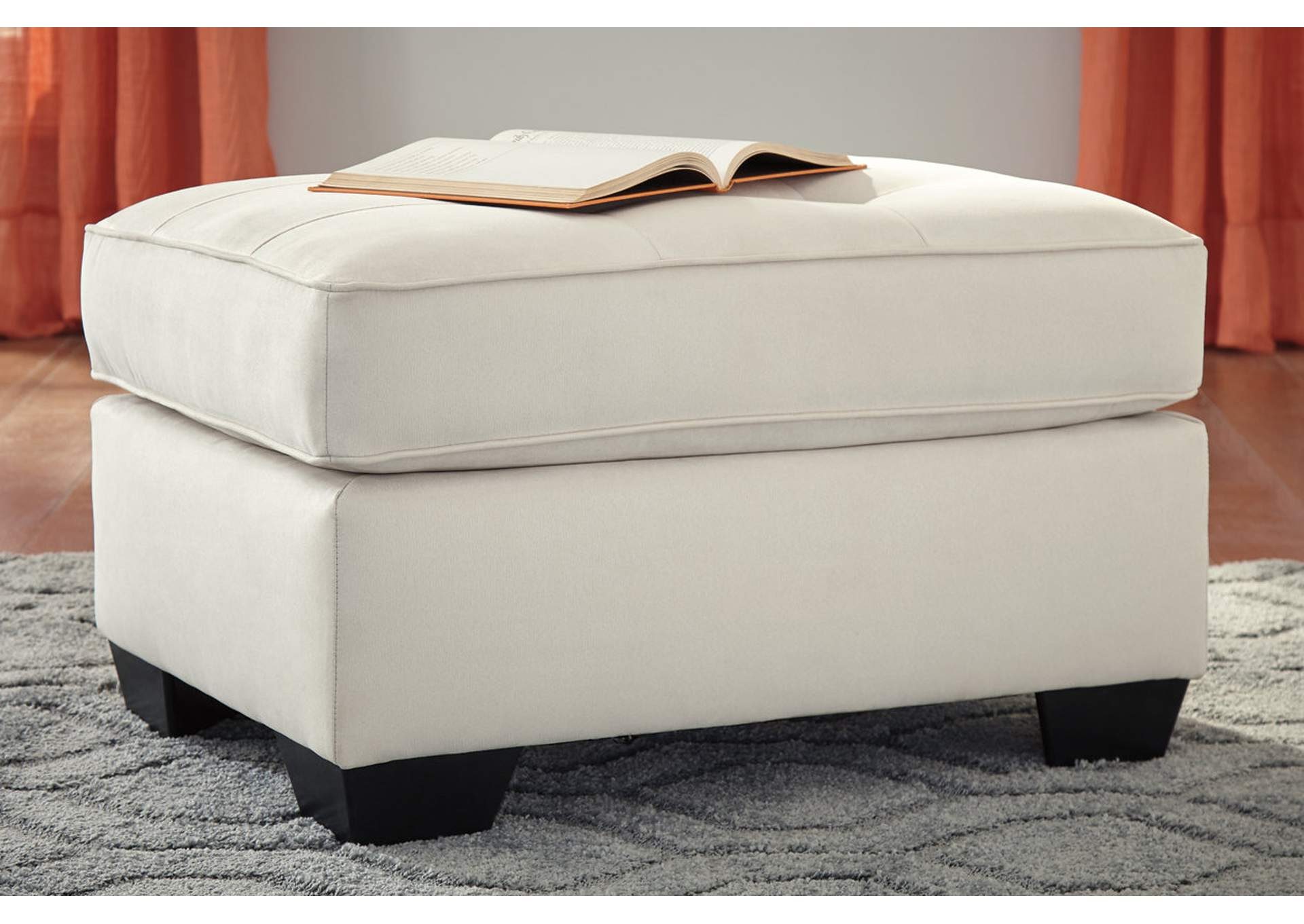 Filone Ivory Ottoman,Signature Design By Ashley