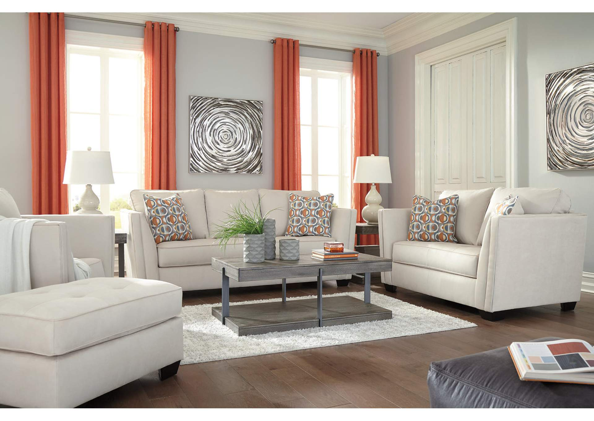 Filone Ivory Sofa & Loveseat,Signature Design By Ashley