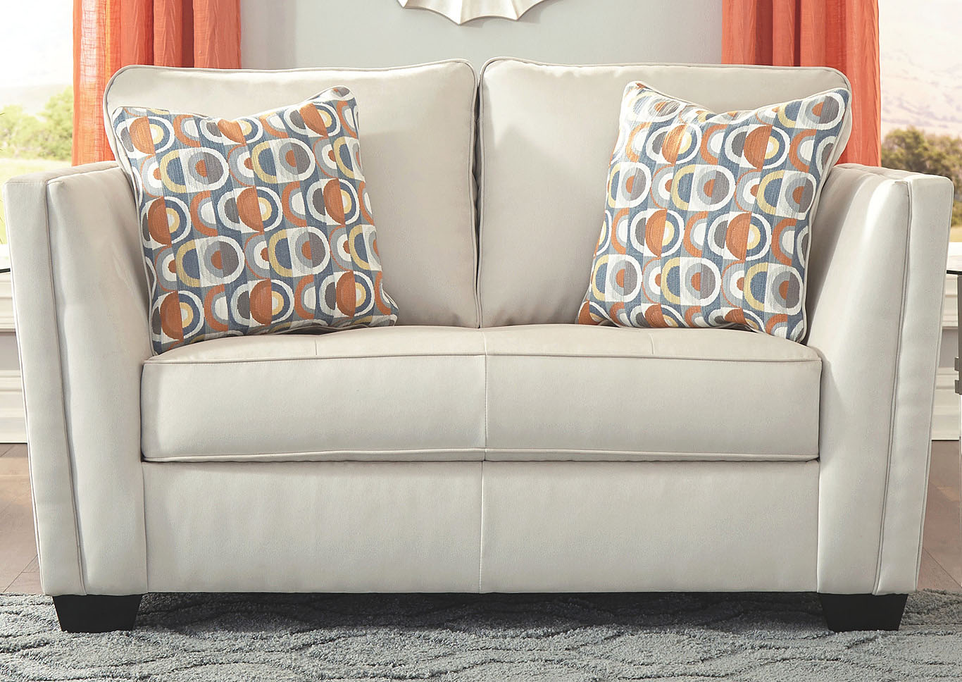 Filone Ivory Loveseat,Signature Design By Ashley