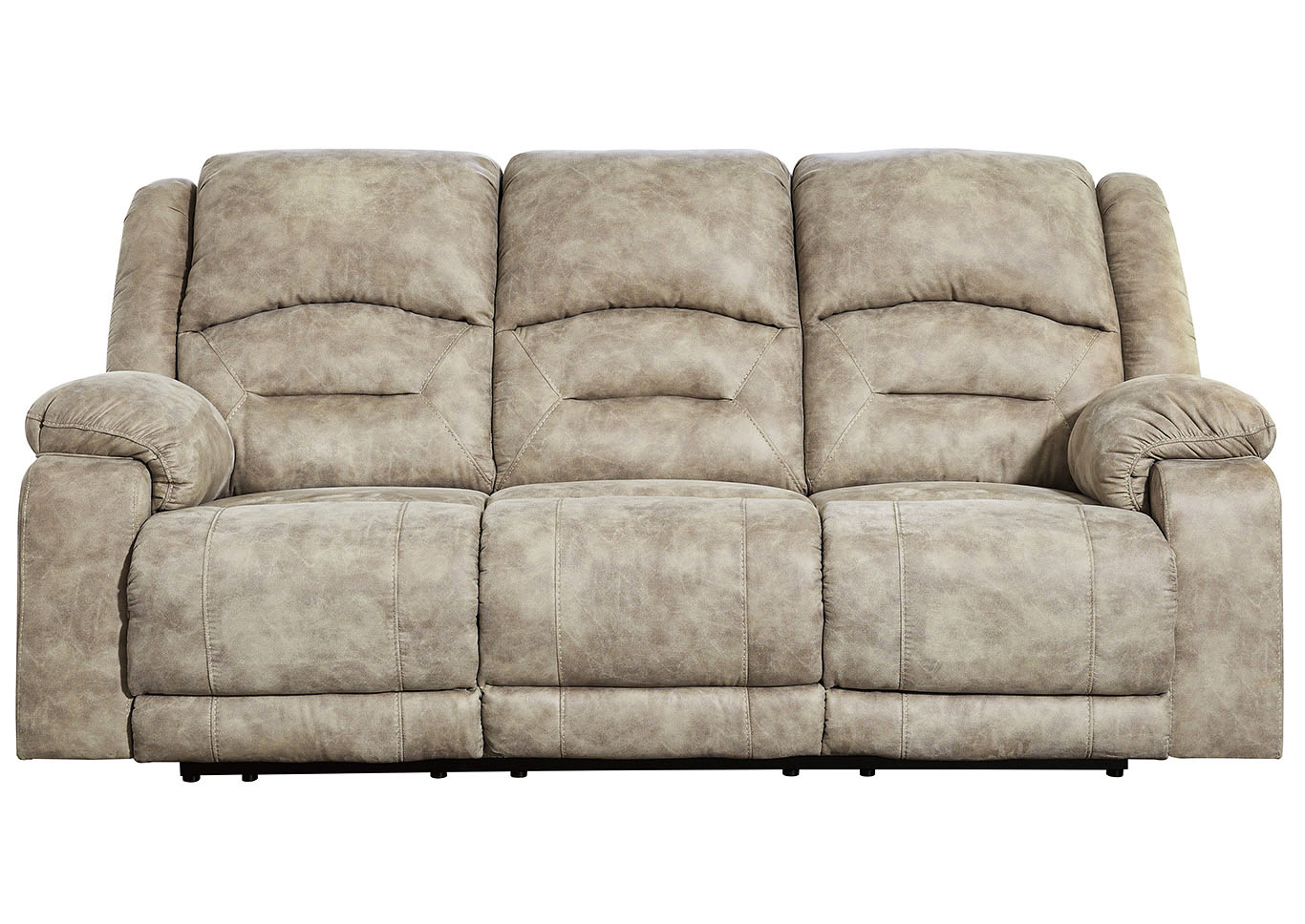 McGinty Graystone Power Reclining Sofa w/Adjustable Headrest,Signature Design By Ashley