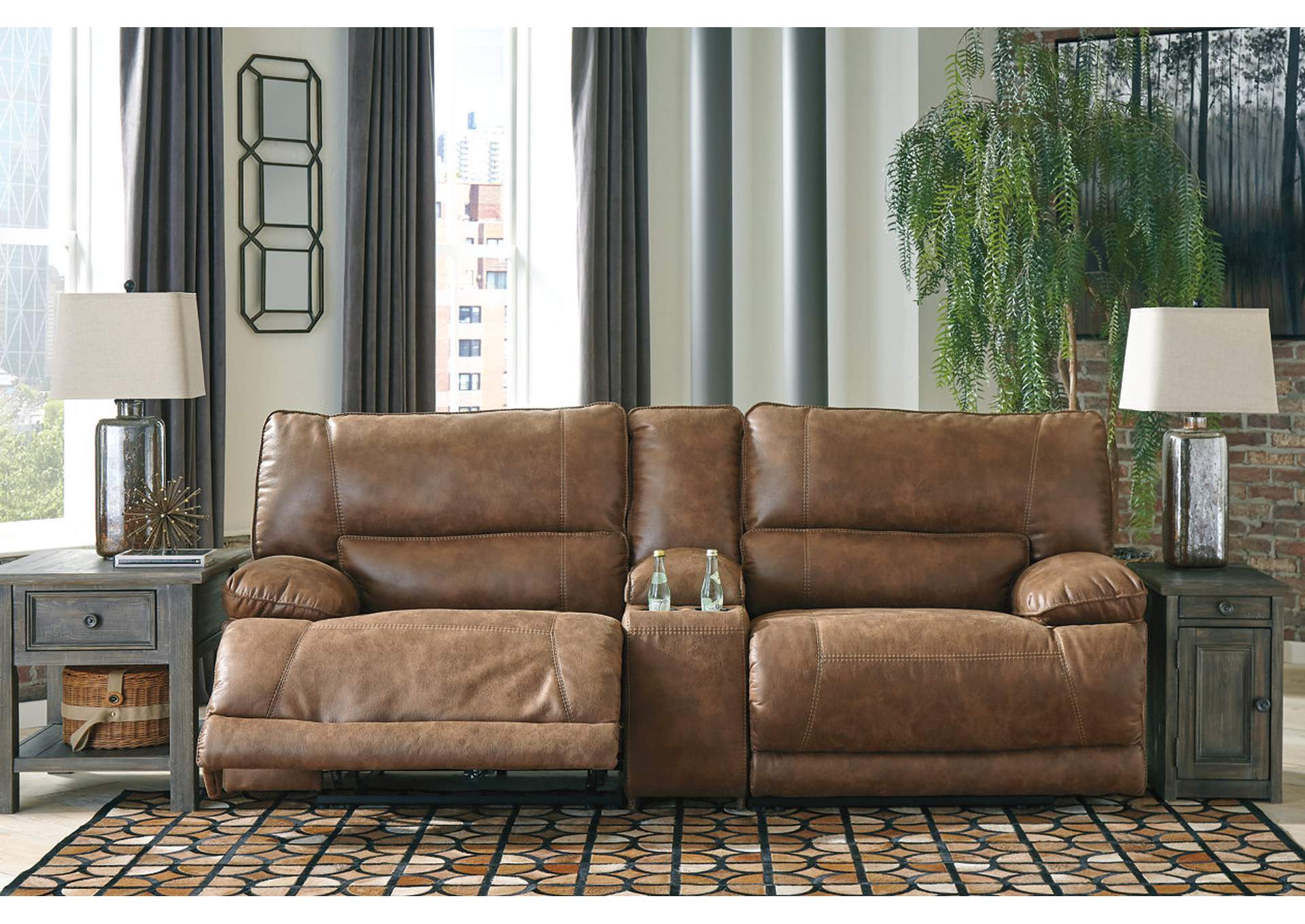 Thurles Saddle Reclining Loveseat w/Console,Signature Design By Ashley