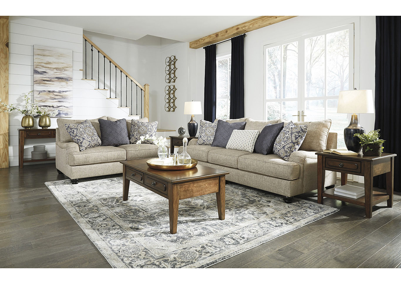 Reardon Gray Sofa and Loveseat,Signature Design By Ashley