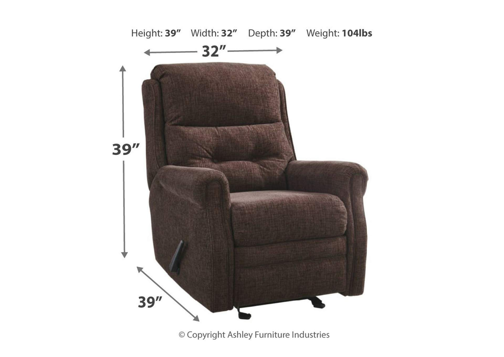 Penzberg Sable Glider Recliner,Signature Design By Ashley