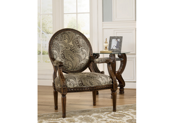 Martinsburg Meadow Showood Accent Chair,48 Hour Quick Ship