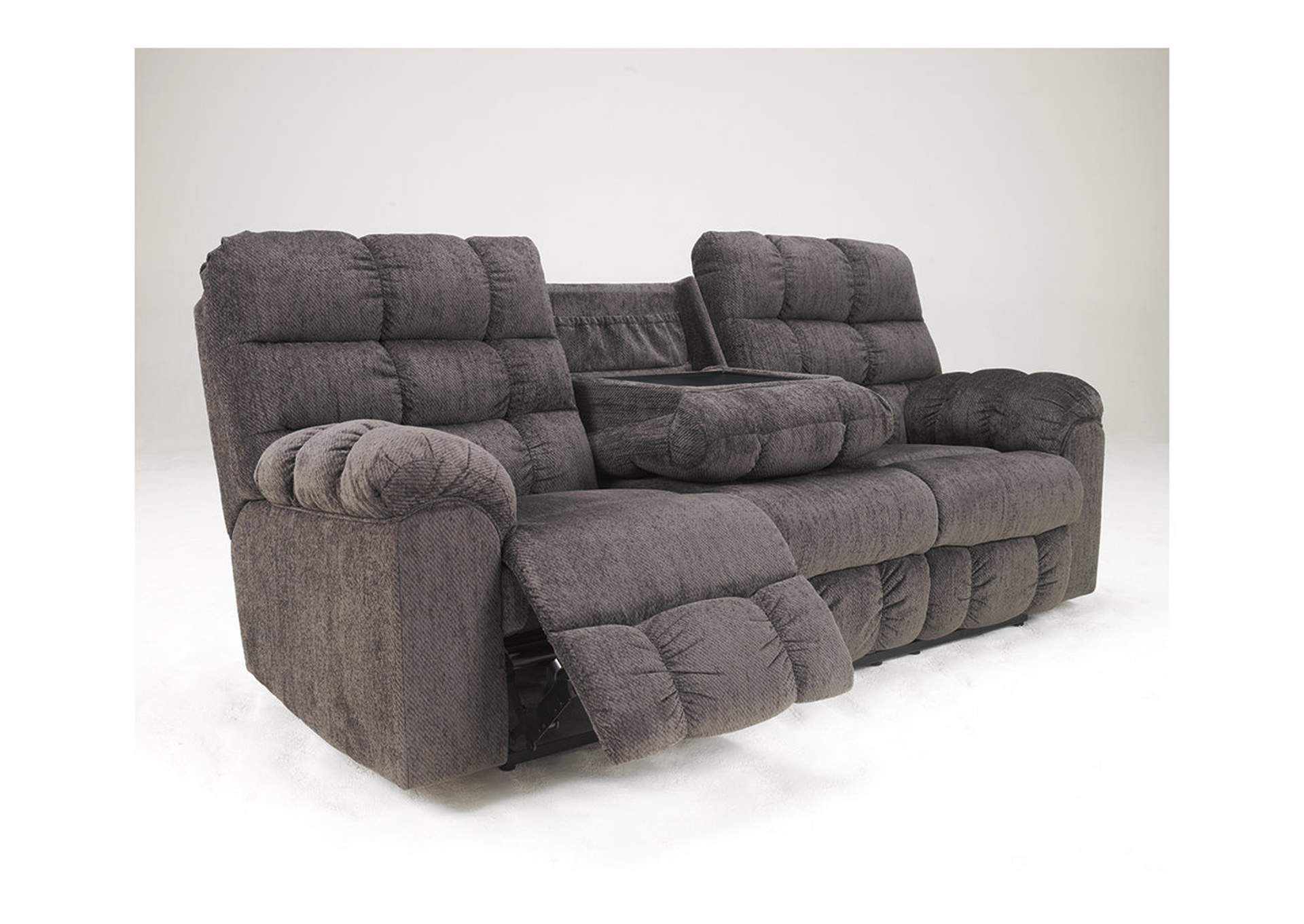 Acieona Slate Reclining Sofa w/ Drop Down Table,Signature Design By Ashley