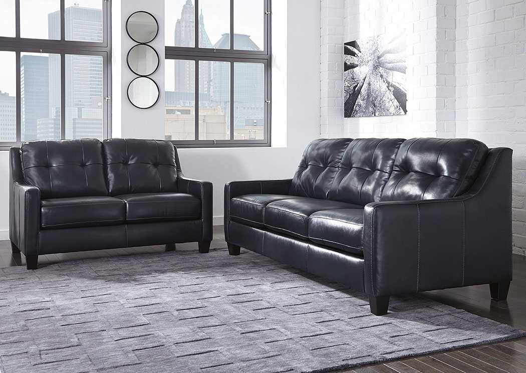 O'Kean Navy Sofa and Loveseat,Signature Design by Ashley