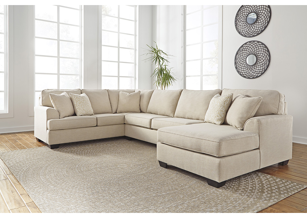 Brioni Nuvella Sand Right Facing Corner Chaise Sofa Sectional,Benchcraft