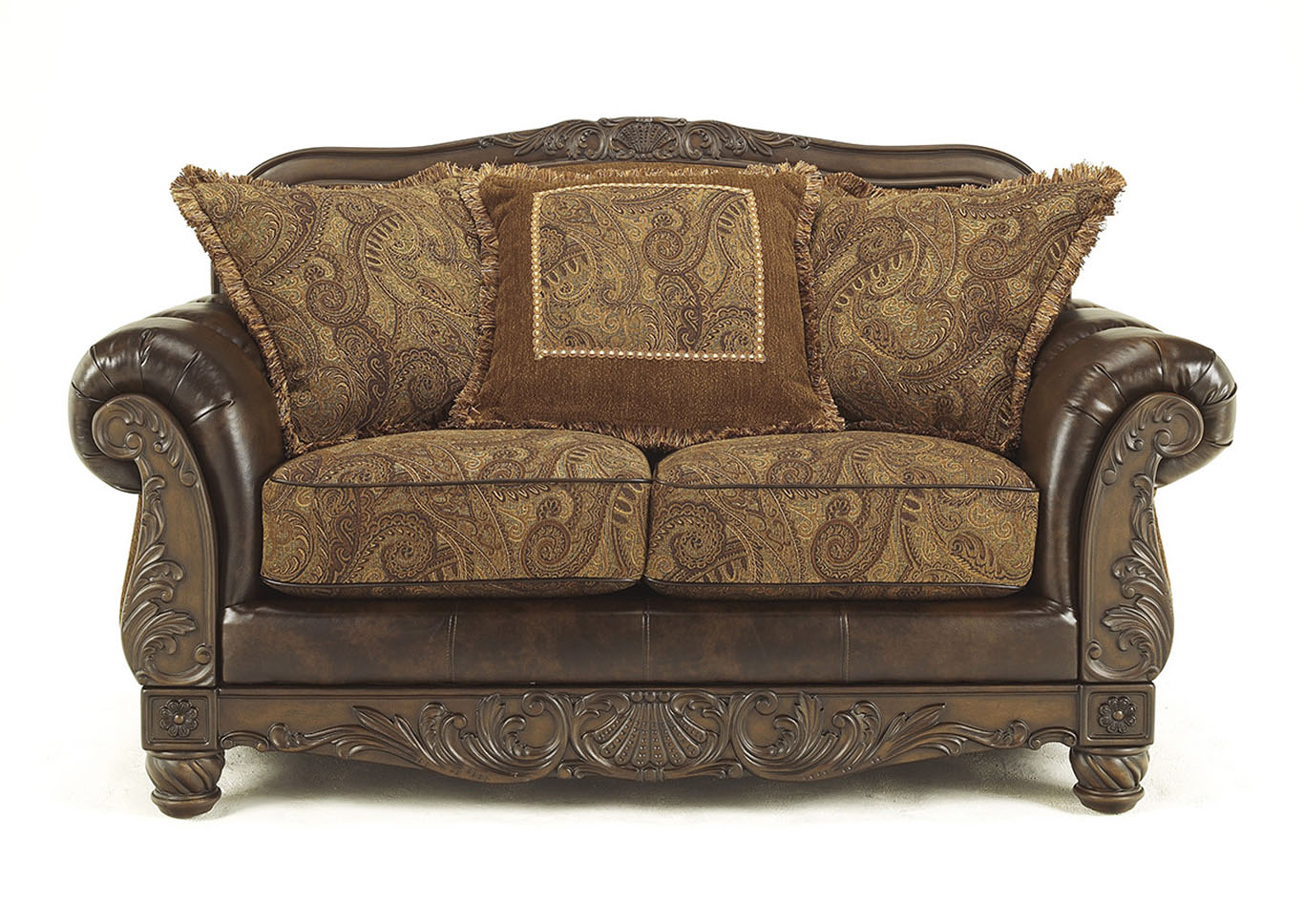 Fresco DuraBlend Antique Loveseat,Signature Design By Ashley