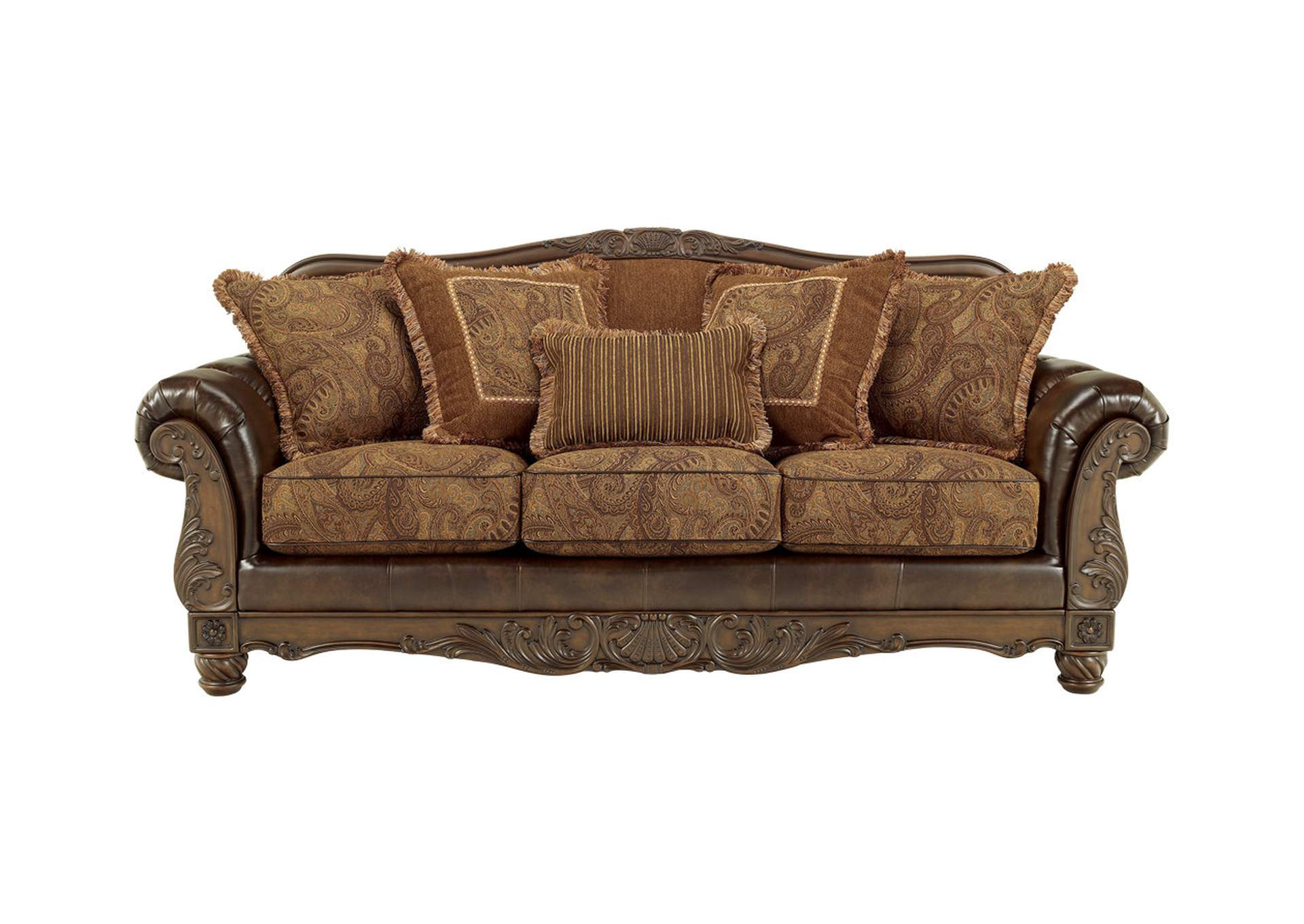 Fresco DuraBlend Antique Sofa,Signature Design By Ashley