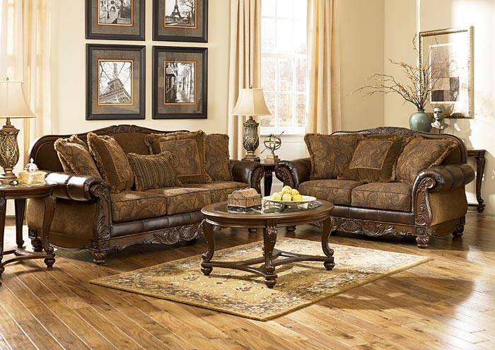 Beau Fresco DuraBlend Antique Sofa U0026 Loveseat,Signature Design By Ashley