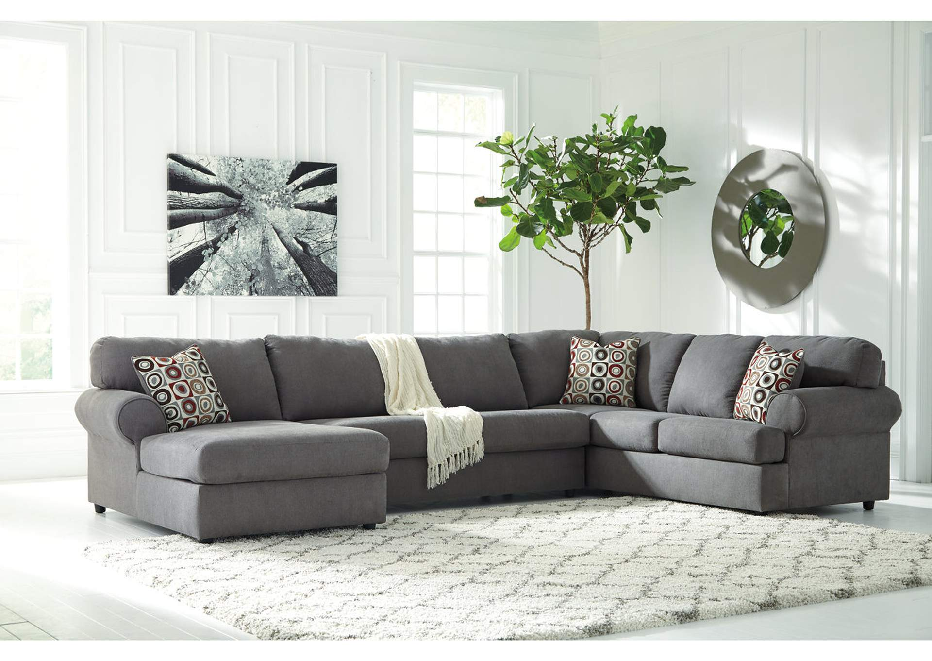 Jayceon Steel Left Facing Chaise End Sectional,Signature Design By Ashley