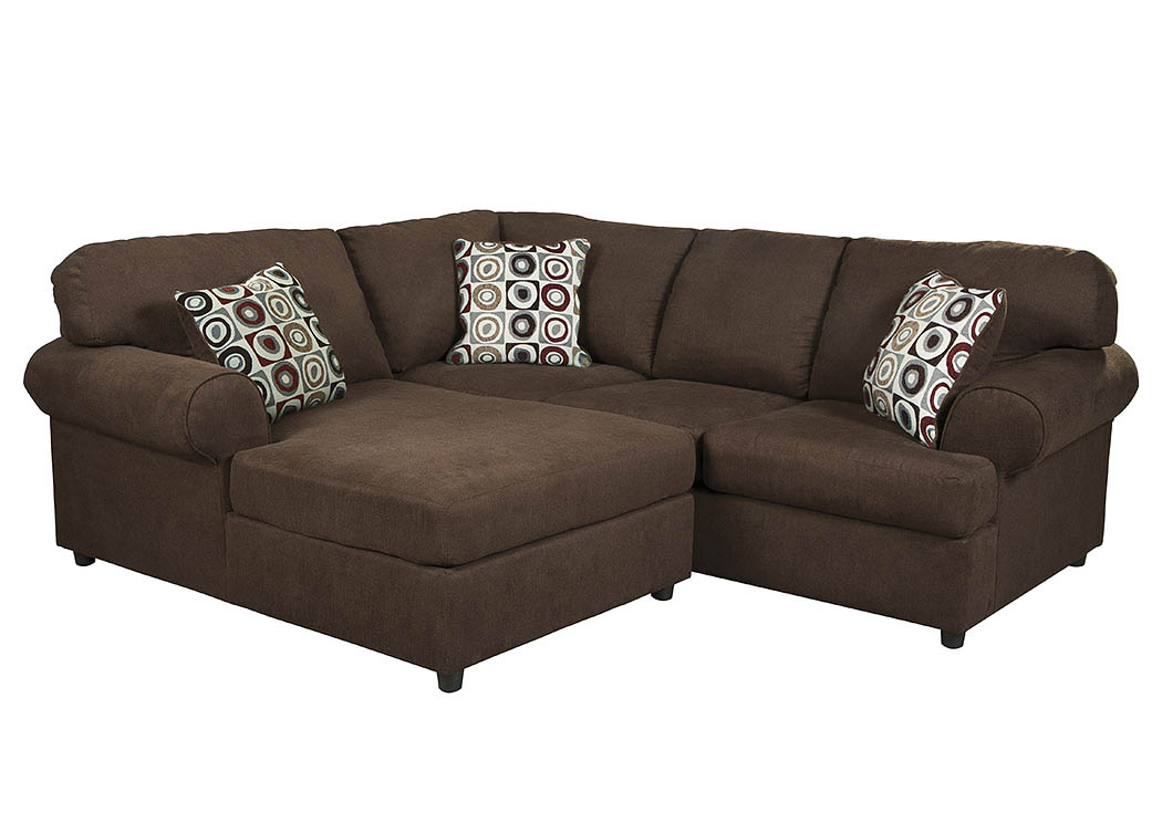 Ashley Furniture Com Showroom Compass Furniture Jayceon Java Left Facing Chaise End ...