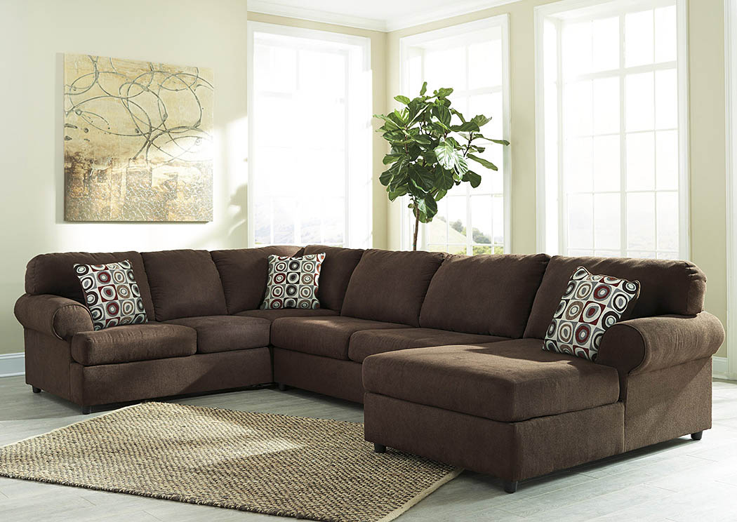 Jayceon Java Extended Right Facing Chaise End Sectional,Signature Design By Ashley