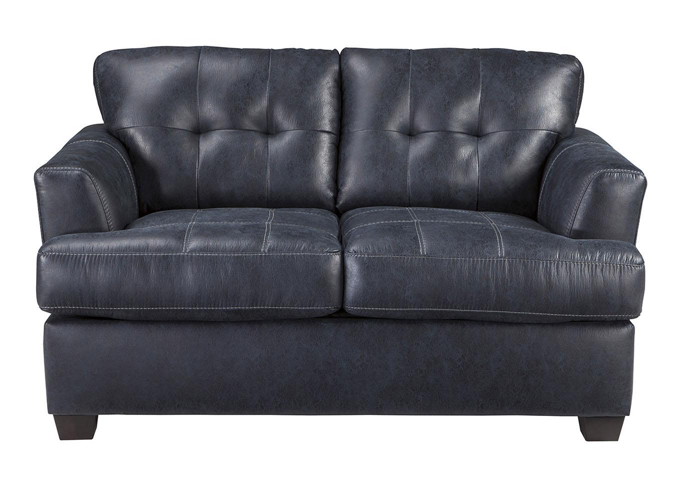 Brilliant Bargain Furniture Inmon Navy Loveseat Home Interior And Landscaping Mentranervesignezvosmurscom
