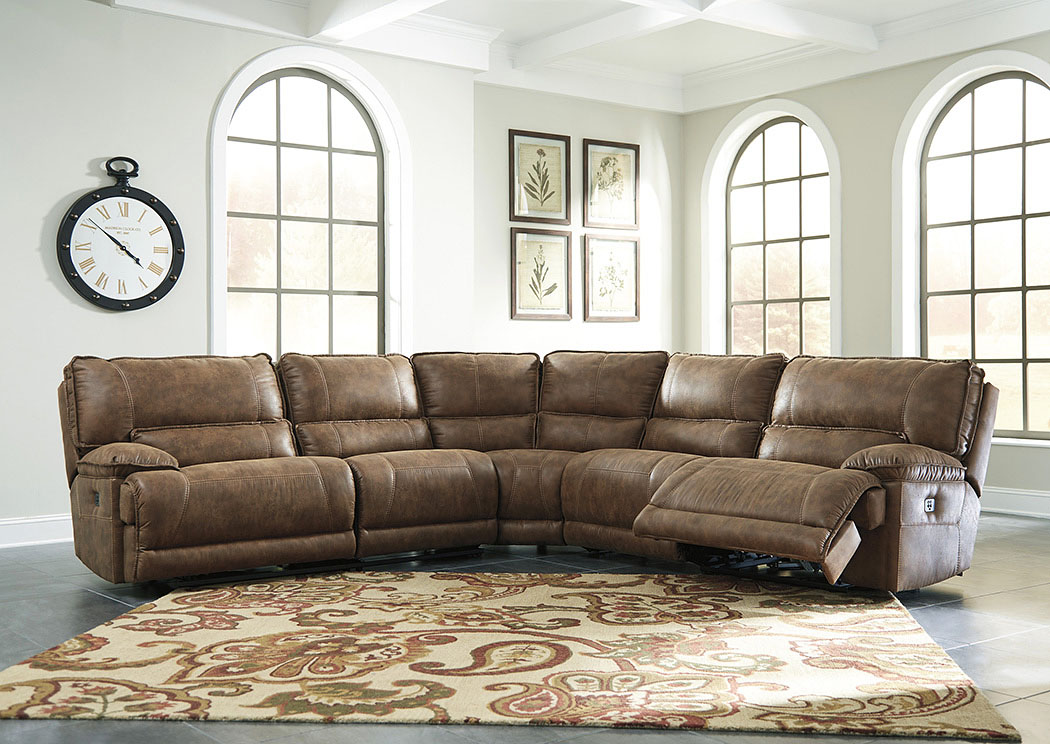 Grattis Saddle Zero Wall Power Recliner Sectional,Signature Design By Ashley