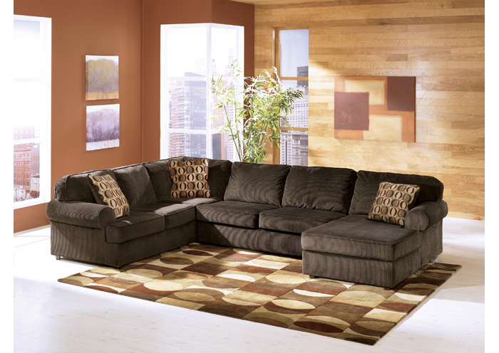 Vista Chocolate Right Facing Chaise Sectional,Ashley