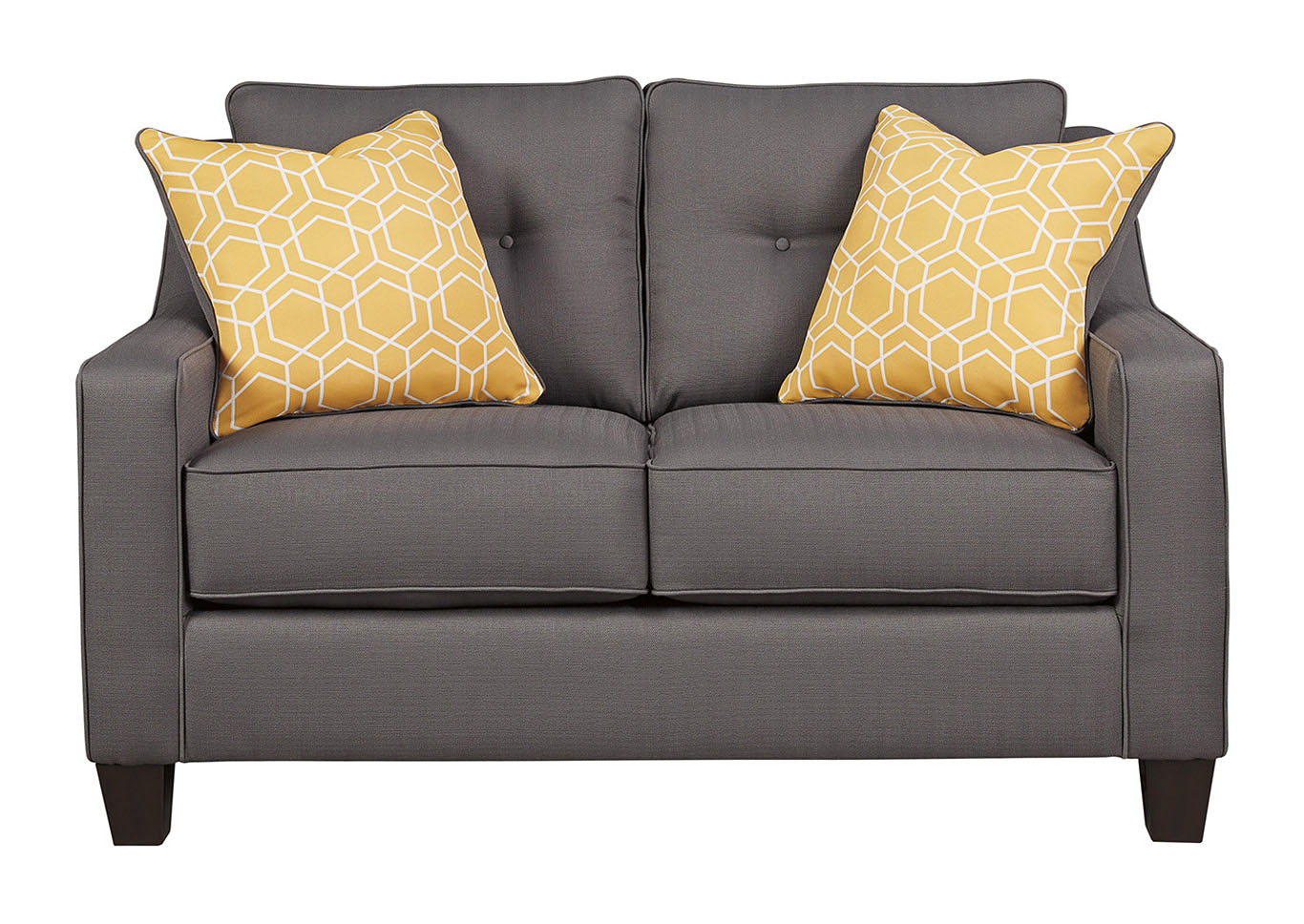 Awesome Ivan Smith Aldie Nuvella Gray Loveseat Home Interior And Landscaping Ologienasavecom