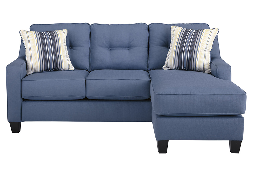 Adora Home Aldie Nuvella Blue Sofa Chaise