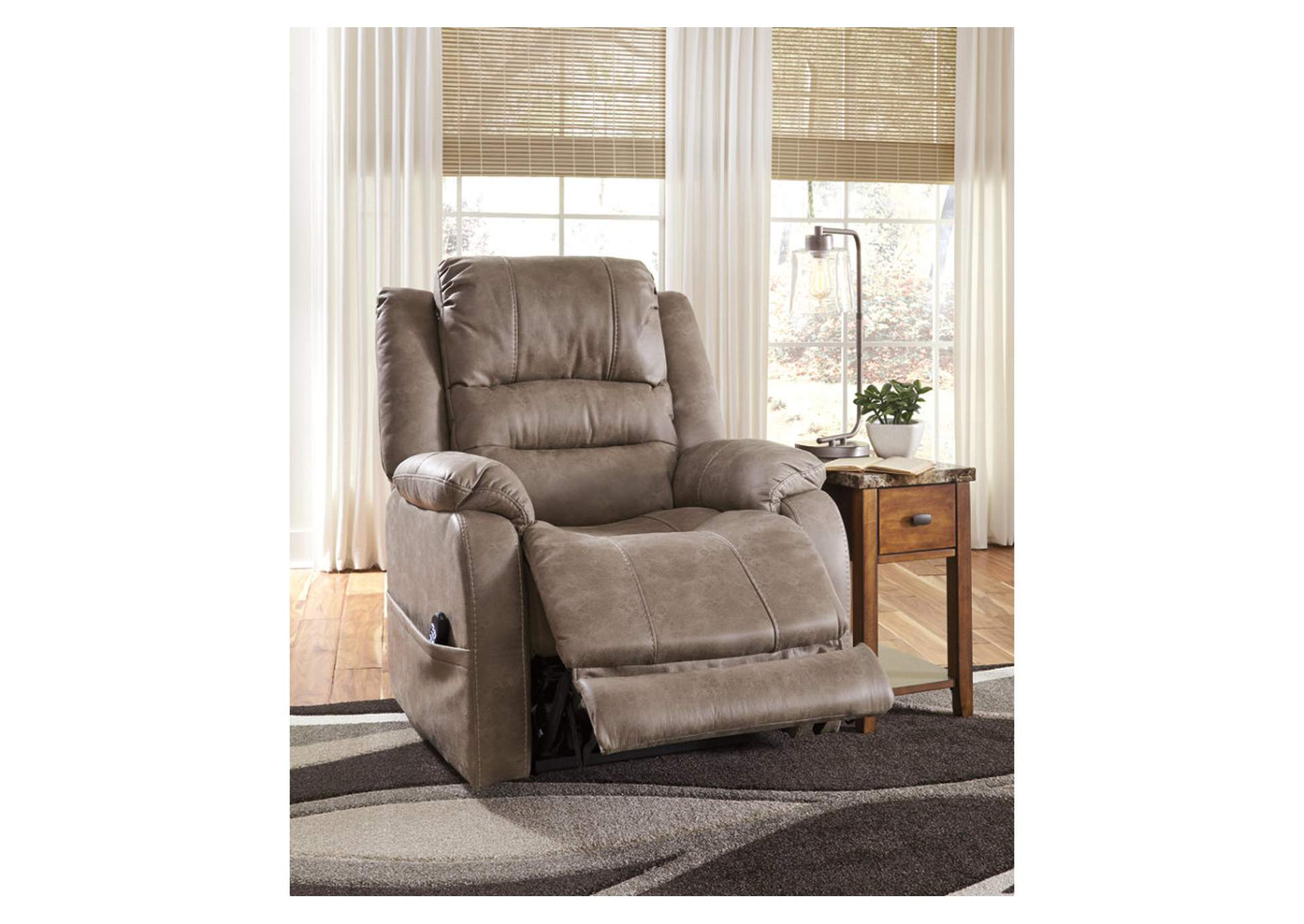 Barling Mushroom Power Recliner w/Adjustable Headrest,Signature Design By Ashley