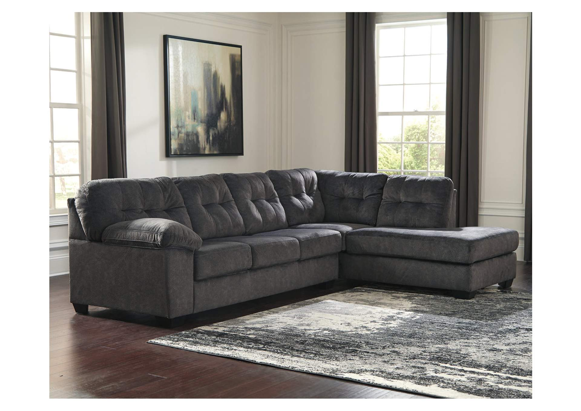 Accrington Granite RAF Chaise End Sectional,Signature Design By Ashley