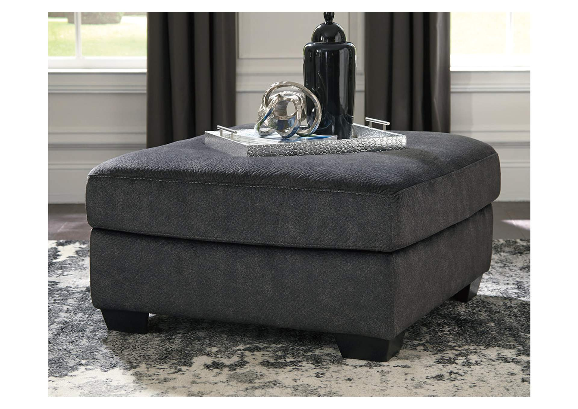 Accrington Granite Oversized Accent Ottoman,Signature Design By Ashley