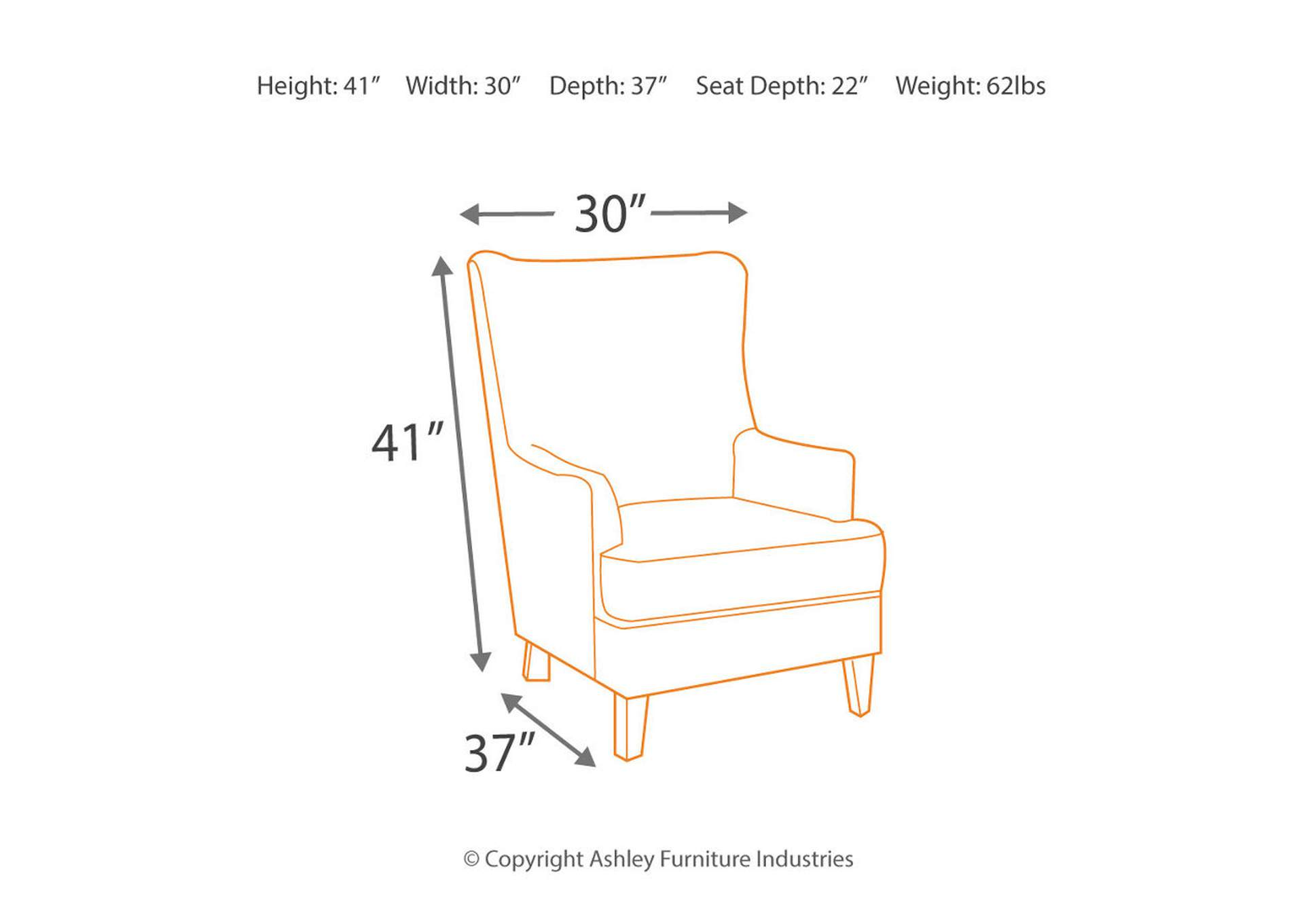 Fashion Home Furniture Lavernia Navy Accent Chair