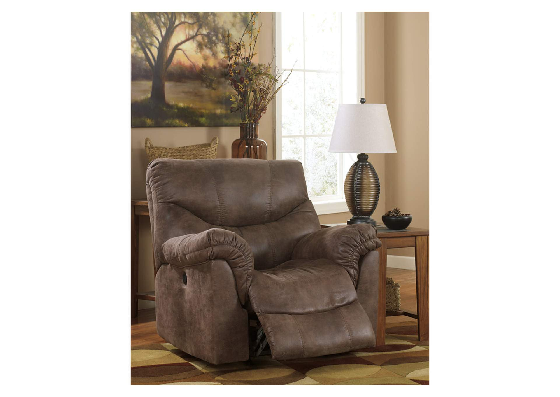 Alzena Gunsmoke Rocker Recliner,Signature Design By Ashley