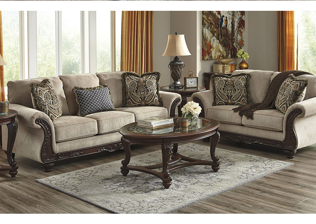 Brothers Fine Furniture Laytonsville Pebble Sofa And Loveseat