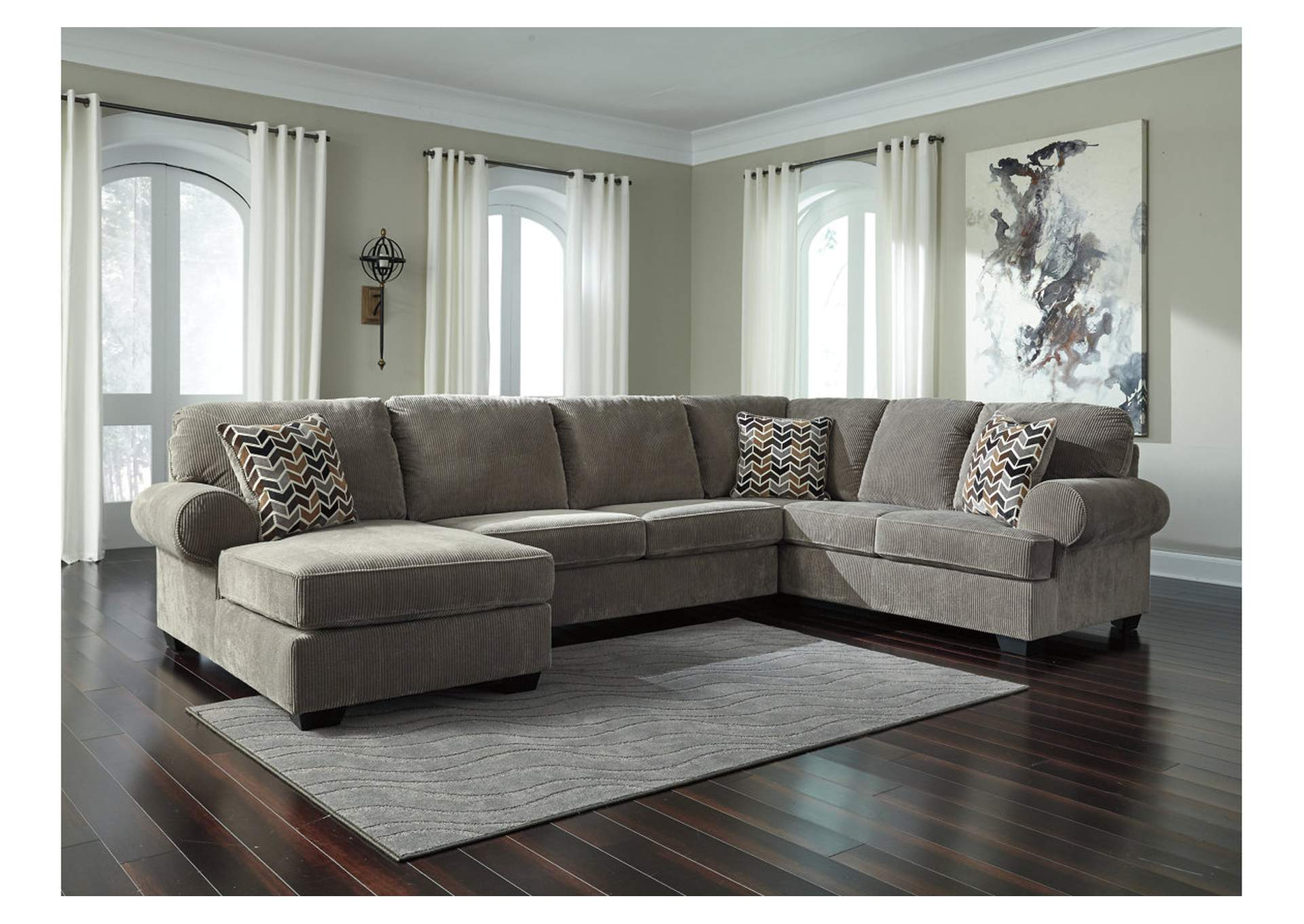 497028 Jinllingsly Gray Right Facing Sofa Sectional