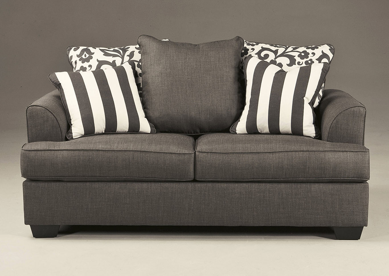 Levon Charcoal Loveseat,Signature Design By Ashley