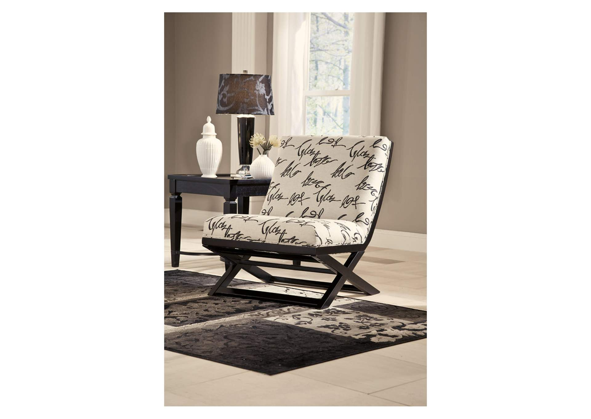 Ivan Smith Levon Charcoal Showood Accent Chair