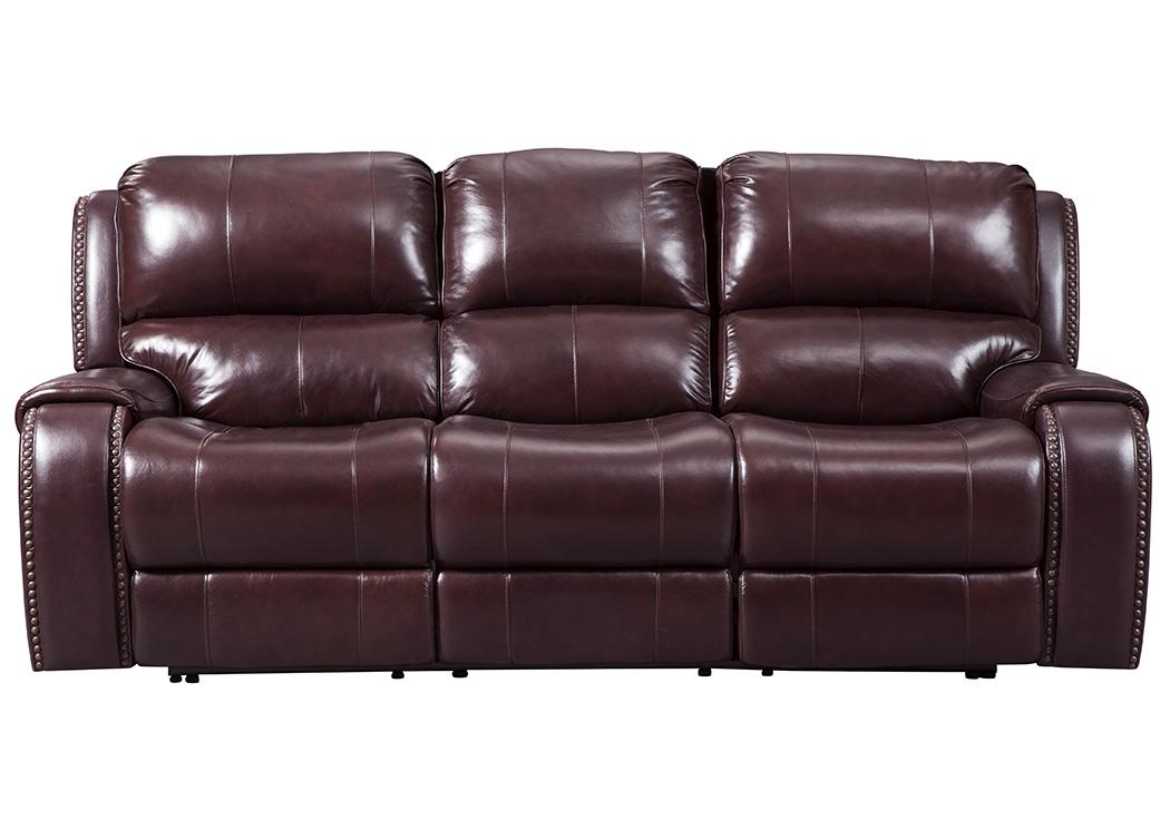 Discount Furniture Aurora Il Gilmanton Burgundy Power Reclining Sofa