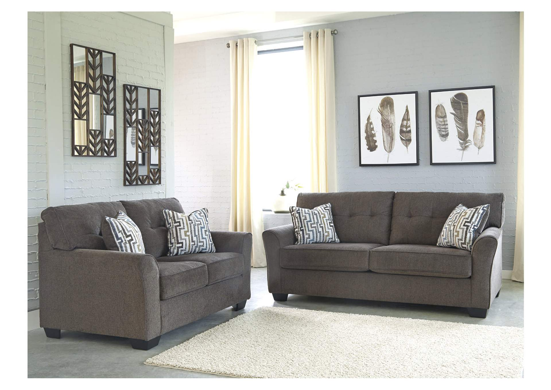 Alsen Granite Sofa & Loveseat,Benchcraft