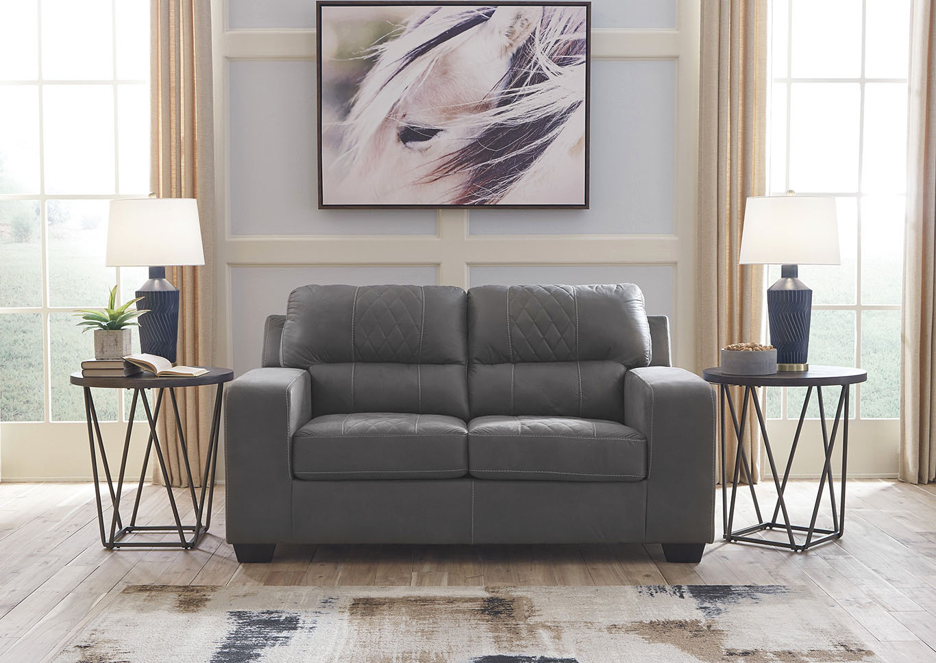 Narzole Dark Gray Loveseat,Benchcraft