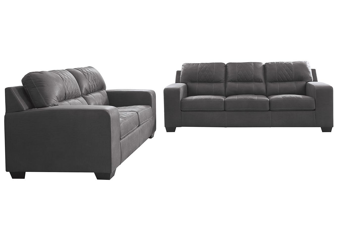 Taft Furniture Sleep Center Narzole Dark Gray Sofa Loveseat