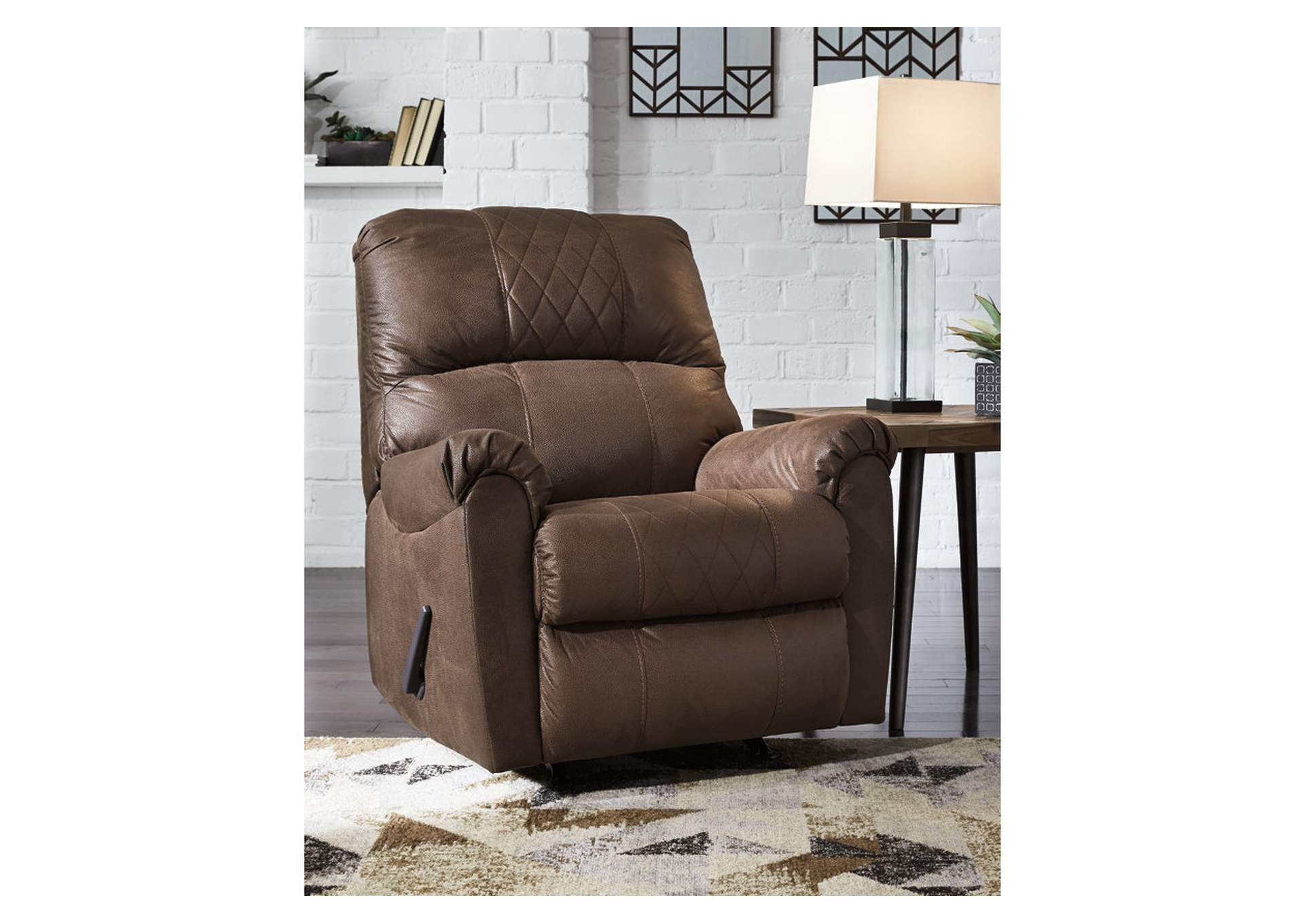 Narzole Coffee Rocker Recliner,Signature Design By Ashley